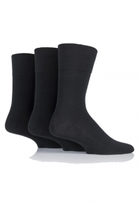 mens-plain-black-diabtic-socks